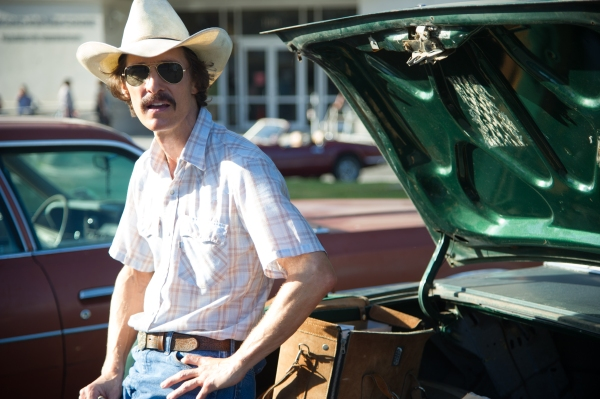 Matthew McConaughey as Ron Woodruff in Dallas Buyers Club.