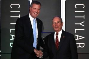 Bill de Blasio and Mayor Bloomberg. (Photo: Spencer Platt/Getty Images)