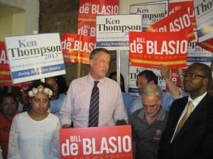 Bill de Blasio and Ken Thompson.