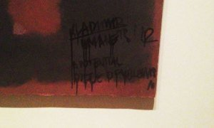 Defaced Rothko at the Tate. (Courtesy The Guardian)