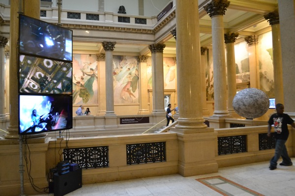 Works by Tobias Madison in the Grand Staircase.