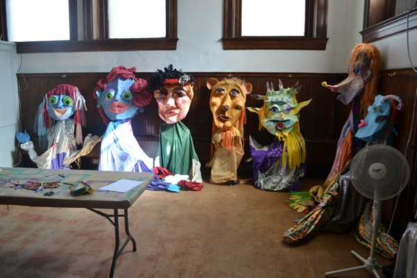 A puppet-lending library, organized by Transformazium, at the Braddock Carnegie Library.