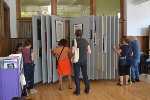 The Art Lending Collection, started by Transformazium, at the Braddock Carnegie Library.