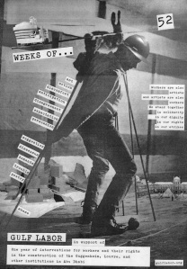 """Poster for """"52 Weeks."""" (Courtesy Gulf Labor)"""