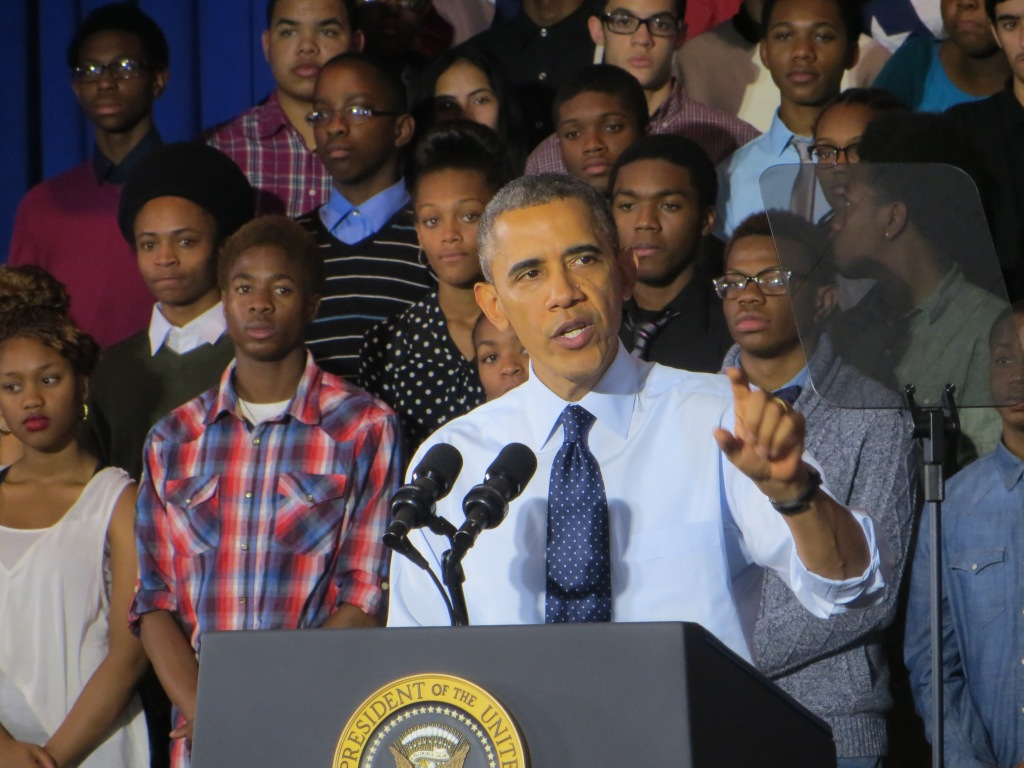 President Barack Obama today.