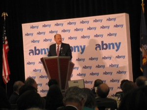 Joe Lhota at the ABNY breakfast this moning.