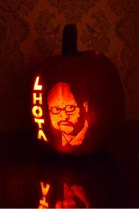 Joe Lhota the pumpkin. (Photo: Twitter/@JoeLhota)