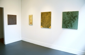 Installation view with works by Tom Martinelli, Tom Brazelton, Reynolds and Montreuil. (Courtesy Minus Space)