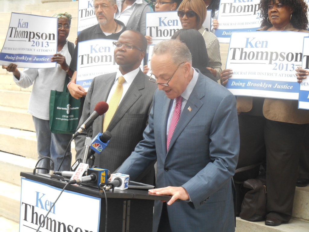 Ken Thompson and Chuck Schumer today.