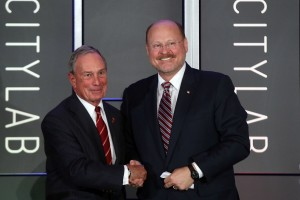Mayor Bloomberg and Joe Lhota. (Photo: Spencer Platt/Getty Images)