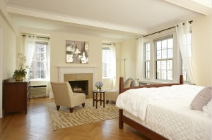 "A portion of the ""sumptuous"" master suite"