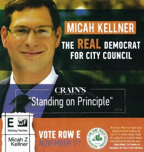 Front side of the Kellner mailer.