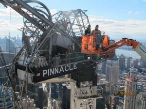The old One57 crane is gone, but the new one is also turning out to be problematic.
