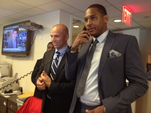 Carmelo Anthony and his former mentor, Jason Kidd, at BGC Partners' Charity Day.