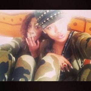 """Rihanna and her """"Instassistant"""" Melissa Forde in an Instagram pic. (instagram.com/badgalriri)"""