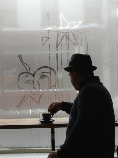 That's not Sam Shepard at Swallow coffee, but he might be sitting at the next table.