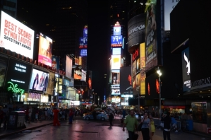 Times Square has been deemed one of the loudest spots in NYC with bustling tourists, honking cabs and blaring sirens.
