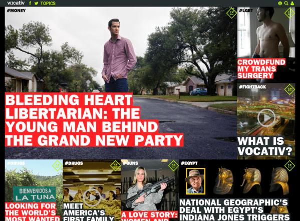 Vocativ Homepage (screenshot)