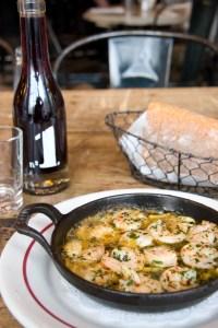 The garlic shrimp are still a hit.