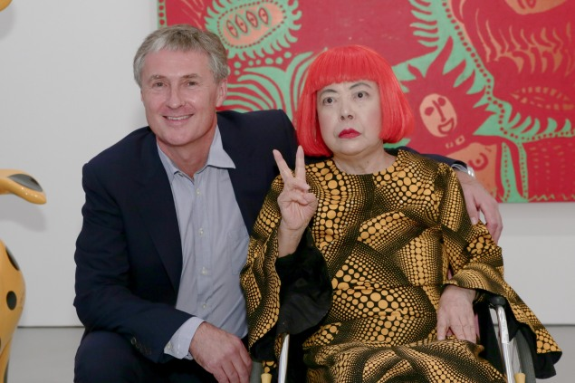 Yayoi Kusama and David Zwirner in 2013. (Courtesy Getty Images)