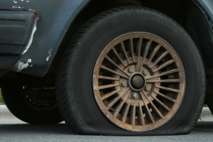 A random flat tire, probably not Peter Vallone's. (Photo: Wikimedia/Ildar Sagdejev)