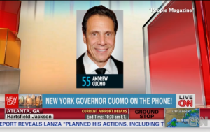 Andrew Cuomo calling into New Day (Screengrab: CNN)