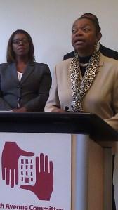 State Senator Velmanette Montgomery speaking today.