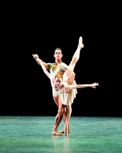 Gillian Murphy and Marcelo Gomes in 'Bach Partita.' (Photo by Gene Schiavone)
