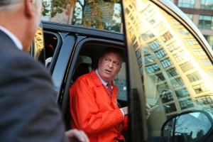 Bill de Blasio, in a car last week. (Photo: Spencer Platt/Getty)