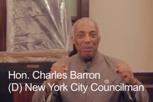 "Charles Barron in a video saying he ""bagged"" Thomas Jefferson. (Photo: YouTube)"