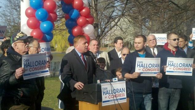 Dan Halloran announcing a failed congressional campaign last year.