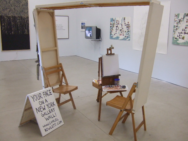 Samuel Rowlett's backpack studio is on display at the Dorsky Gallery. (Photo: Dorsky Gallery)