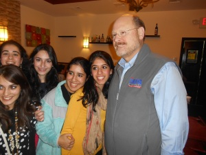 Joe Lhota poses with some young fans.