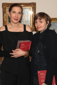 Laurie Simmons and Lena Dunham at the Women in the Arts fundraising luncheon.