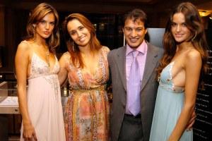 Frederic Fekkai, surrounded by beautiful women. (Patrick McMullan)