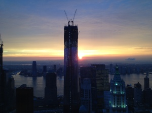 Cliff Finn credits views like this one for helping units at New York by Gehry fetch top dollar.