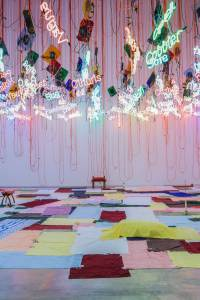 Installation view of 'My Madinah: In pursuit of my ermitage...' (2004/2013) by Jason Rhoades. (Courtesy ICA Phildelphia)