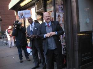 Joe Lhota campaigning on the Upper East Side.