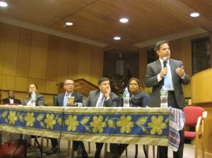 From left to right: Melissa Mark-Viverito, Jimmy Vacca, Mark Weprin, Annael Palma and Dan Garodnick.
