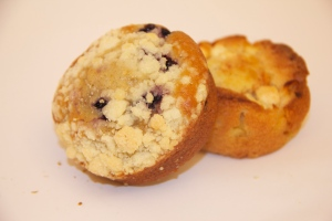 Of course it's healthy. The muffins are positively packed with blueberries.