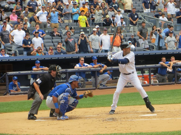 Derek Jeter at the plate.