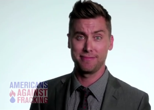 Lance Bass, eyebrow arched.