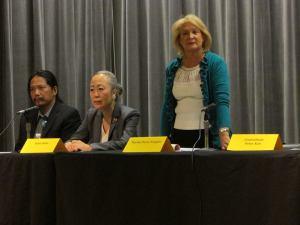 Martha Flores-Vazquez stands at a City Council forum. (Photo: Facebook)