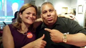 Melissa Mark-Viverito and Clark Pena. (Photo: Facebook)