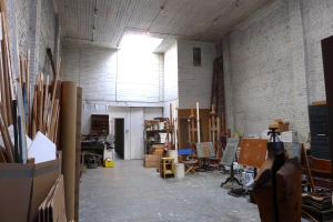 The space was and will be a working studio.