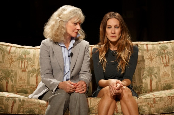 Blythe Danner, left, and Sarah Jessica Parker in Amanda Peet's new play, The Commons of Pensacola.