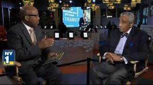 Congressman Charlie Rangel on NY1. (Photo: NY1 screenshot)