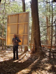 Mr. Rowlett walking in the woods near his Massachusetts home. Thoreau would certainly approve. (Photo: Dorsky Gallery)