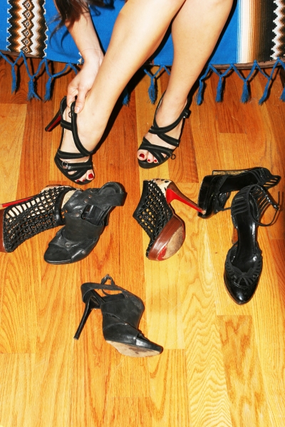 What would you do for a pair of Christian Louboutin shoes? (Photo by Amanda Lea Perez)