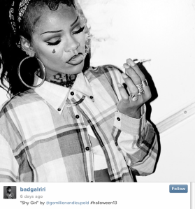 No word yet on what this means for the medium's most famous stoner. (Photo: Instagram.com/badgalriri)